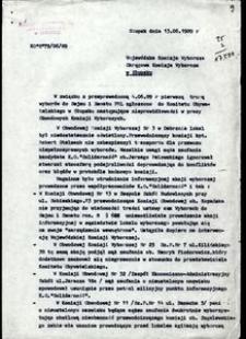 [Pismo do Wojewódzkiej Komiscji Wyborczej]