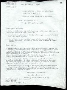 Fax do Biura Wyborczego Komitetu Obywatelskiego