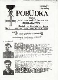 """Pobudka : pismo """"Solidarności"""" Polskich Kombatantów, 1989, nr 11"""