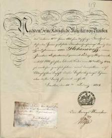 [Dokument potwierdzający przyznanie orderu kapitanowi von Hohendorff za 25 lat służby wojskowej]