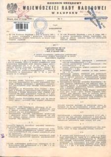 Dziennik Urzędowy Wojewódzkiej Rady Narodowej w Słupsku. Nr 1-8/1980