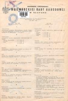 Dziennik Urzędowy Wojewódzkiej Rady Narodowej w Słupsku. Nr 1-9/1981