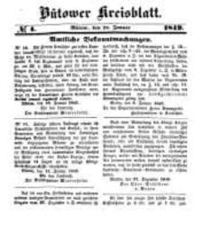 Kreisblatt des Bütower Kreises 1849 nr 4