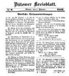 Kreisblatt des Bütower Kreises 1849 nr 6