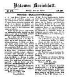 Kreisblatt des Bütower Kreises 1849 nr 17