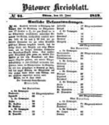 Kreisblatt des Bütower Kreises 1849 nr 24