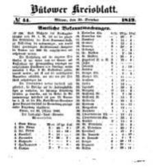 Kreisblatt des Bütower Kreises 1849 nr 44