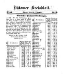 Kreisblatt des Bütower Kreises 1849 nr 52