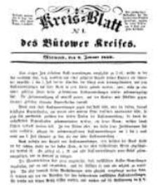Kreisblatt des Bütower Kreises 1850 nr 1