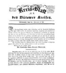 Kreisblatt des Bütower Kreises 1850 nr 4