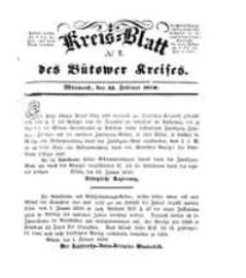 Kreisblatt des Bütower Kreises 1850 nr 7