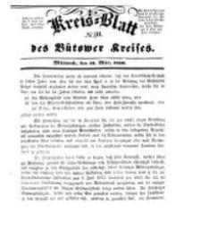 Kreisblatt des Bütower Kreises 1850 nr 11