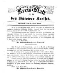 Kreisblatt des Bütower Kreises 1850 nr 16