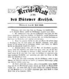 Kreisblatt des Bütower Kreises 1850 nr 24
