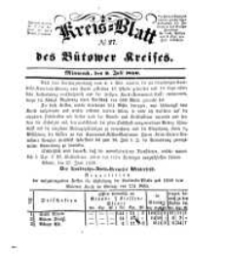 Kreisblatt des Bütower Kreises 1850 nr 27