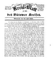 Kreisblatt des Bütower Kreises 1850 nr 28