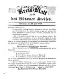 Kreisblatt des Bütower Kreises 1850 nr 29