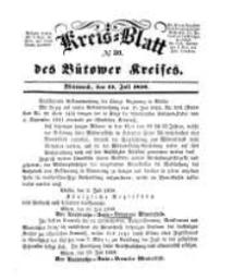 Kreisblatt des Bütower Kreises 1850 nr 30