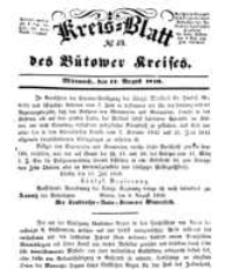 Kreisblatt des Bütower Kreises 1850 nr 33