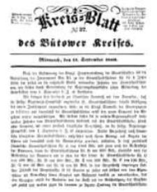 Kreisblatt des Bütower Kreises 1850 nr 37