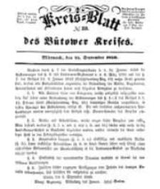 Kreisblatt des Bütower Kreises 1850 nr 39