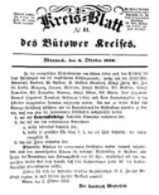 Kreisblatt des Bütower Kreises 1850 nr 41