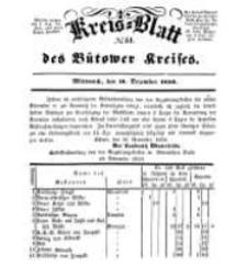 Kreisblatt des Bütower Kreises 1850 nr 51