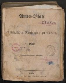 Amts-Blatt der Königlichen Regierung zu Cöslin 1862