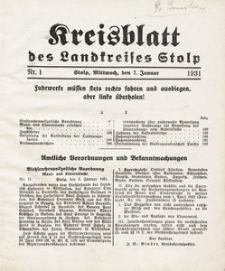 Kreisblatt des Landkreises Stolp nr 1
