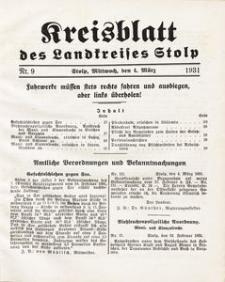 Kreisblatt des Landkreises Stolp nr 9