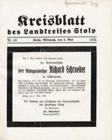Kreisblatt des Landkreises Stolp nr 18
