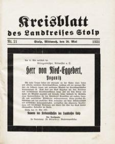 Kreisblatt des Landkreises Stolp nr 21