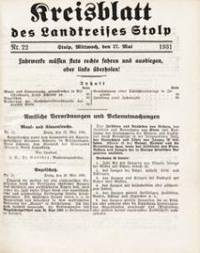 Kreisblatt des Landkreises Stolp nr 22
