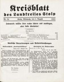 Kreisblatt des Landkreises Stolp nr 34