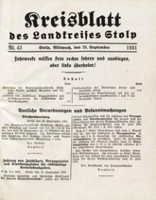 Kreisblatt des Landkreises Stolp nr 43