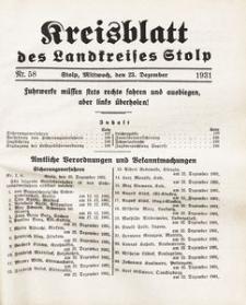 Kreisblatt des Landkreises Stolp nr 58