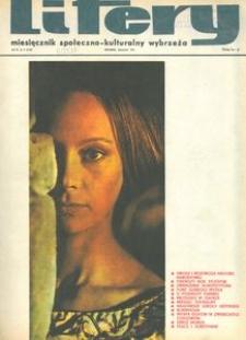 Litery : magazyn społeczno-kulturalny Wybrzeża, 1971, nr 4
