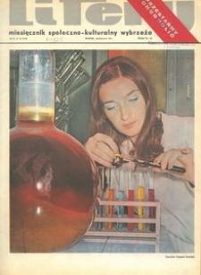 Litery : magazyn społeczno-kulturalny Wybrzeża, 1971, nr 10