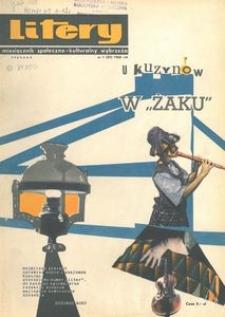 Litery : magazyn społeczno-kulturalny Wybrzeża, 1965, nr 1