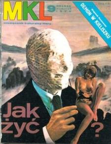 """Miesięcznik Kulturalny """"Litery"""" , 1974, nr 9"""