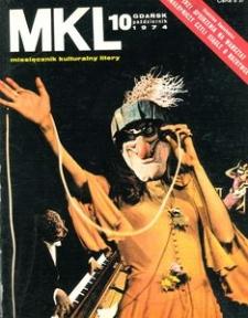"""Miesięcznik Kulturalny """"Litery"""" , 1974, nr 10"""