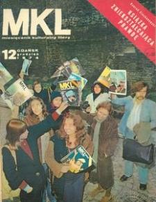 """Miesięcznik Kulturalny """"Litery"""" , 1974, nr 12"""