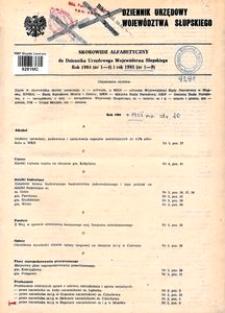 Dziennik Urzędowy Województwa Słupskiego. Nr 1-9/1985