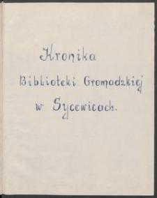Kronika Biblioteki Gromadzkiej w Sycewicach