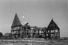 Stodoła konstrukcji szkieletowej z 1749 roku - Wdzydze KPE