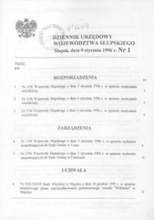 Dziennik Urzędowy Województwa Słupskiego. Nr 1-21/1996