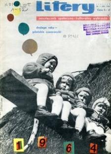 Litery : magazyn społeczno-kulturalny, 1964, nr 1