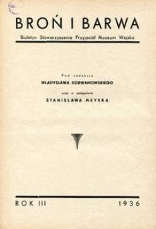 Broń i Barwa 1936 - spis artykułów