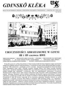 Gdinskô Klëka : biuletyn Gdyńskiego Oddziału Zrzeszenia Kaszubsko-Pomorskiego Kwartał III Nr (18) 2001