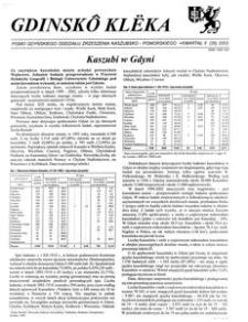 Gdinskô Klëka : biuletyn Gdyńskiego Oddziału Zrzeszenia Kaszubsko-Pomorskiego Kwartał II Nr (26) 2003
